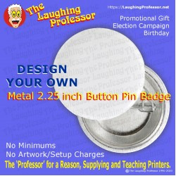 Button Pin Badge - Metal