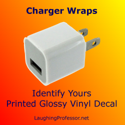 Charger Wrap - iphone personalized decal