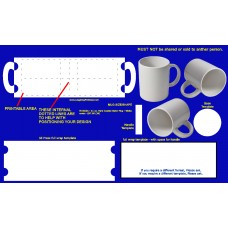 File - MUG 11oz Blank Template and 3d mockup images
