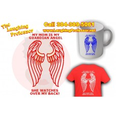 T-Shirt - My Guardian angel watches over my back