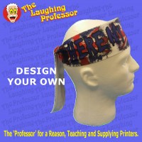 Headband / scarf microfiber/polyester, white.