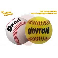 Personalized Printed Baseball - Softball