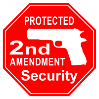 Security warning decals - 2nd Amendment
