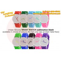 Watch - Silicone wrist watch, unisex sublimation blank dye printed metal face