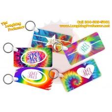 Tie Dye Monogram Key Ring