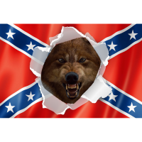 File - Rebel / Wolf flag