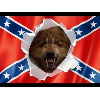 File - Rebel / Wolf flag