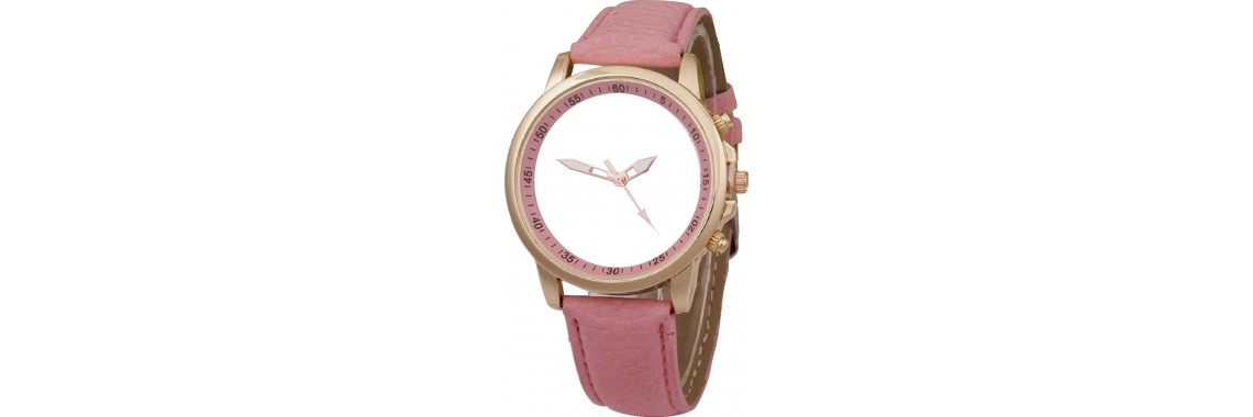 Ladies leather sublimation wrist watch