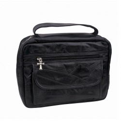 Bible Cover - Black Leather