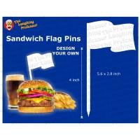 Sandwich / Cake Topper Flag Pin