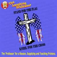 Stand for the Flag, kneel for the Cross - Download Artwork file.