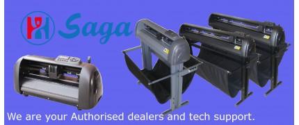 resellers agent for Hix heat presses and Saga vinyl cutters