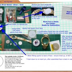 Watch - download instructions for sublimation wrist watches