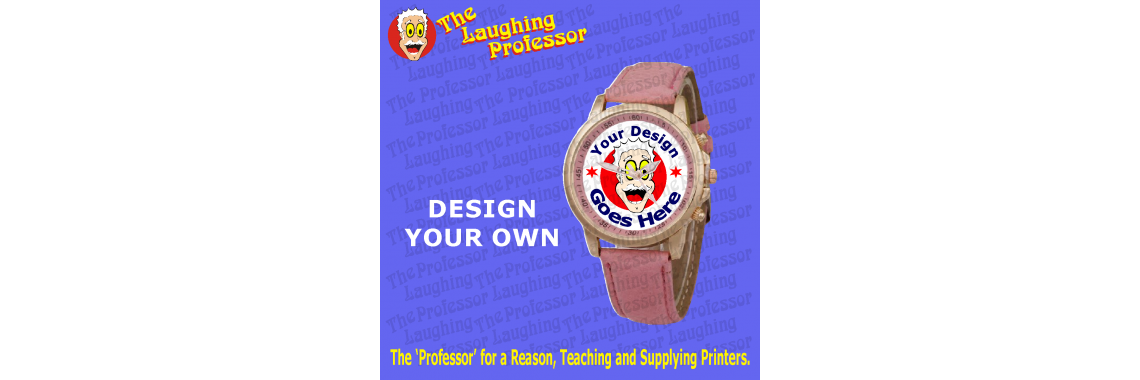 Ladies leather sublimation wrist watch