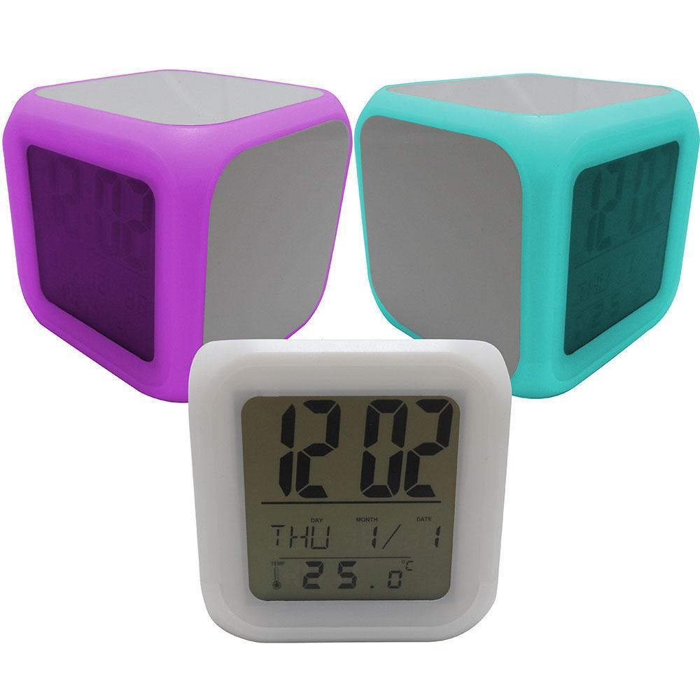 Blank sublimation cube alarm clock