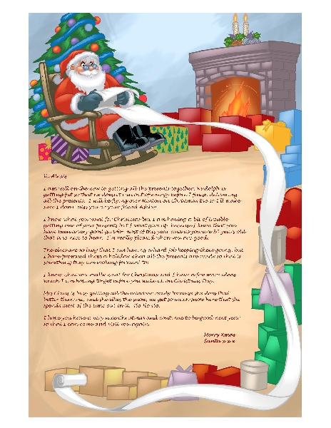 Personalized letter from Santa to your child