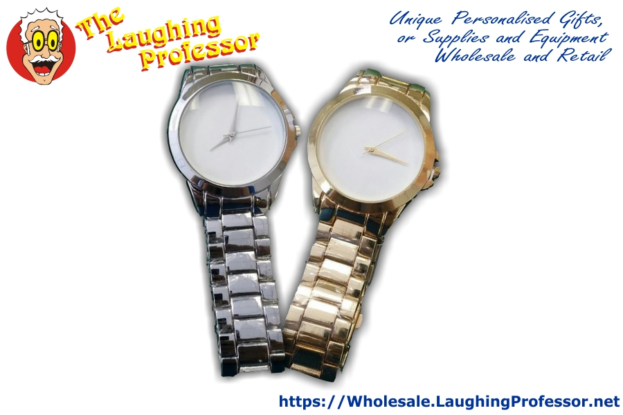 stainless gold silver sublimation wrist watch